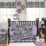 Purple Nursery Bedding Decorations
