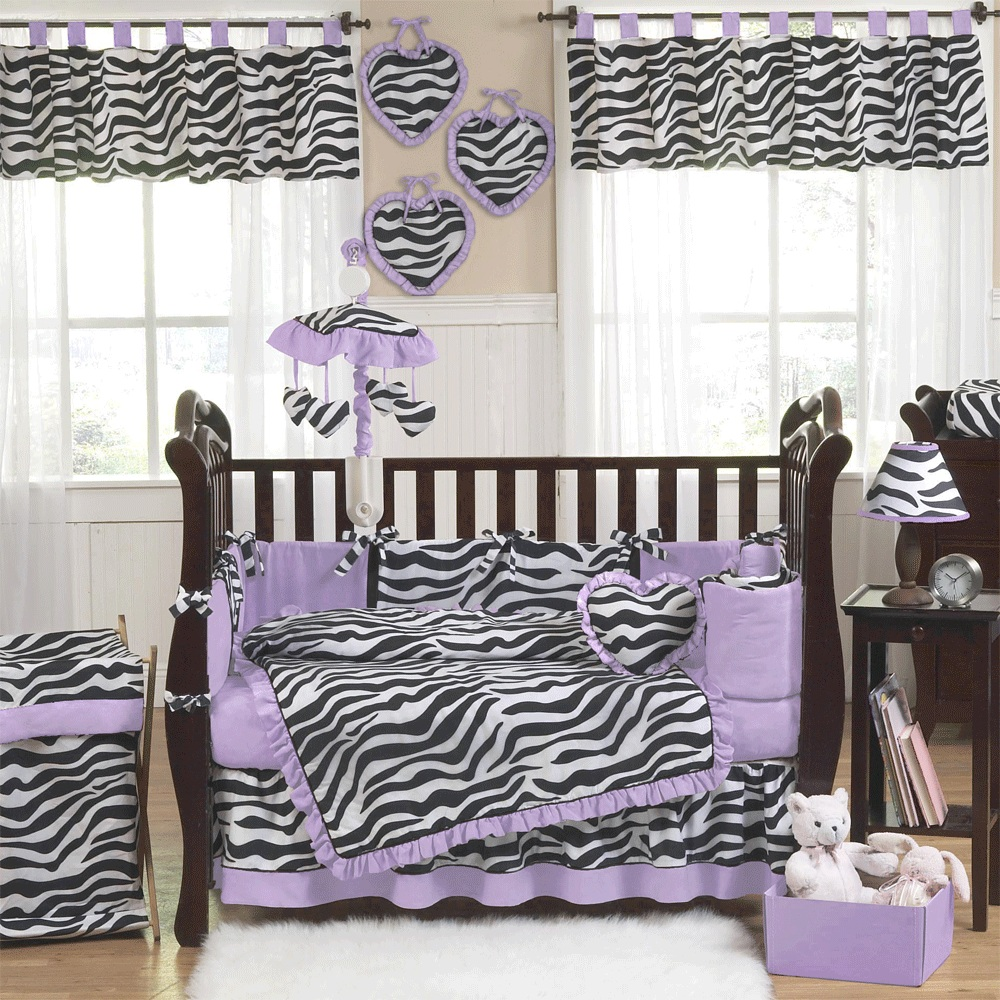 Picture of: Purple Nursery Bedding Decorations
