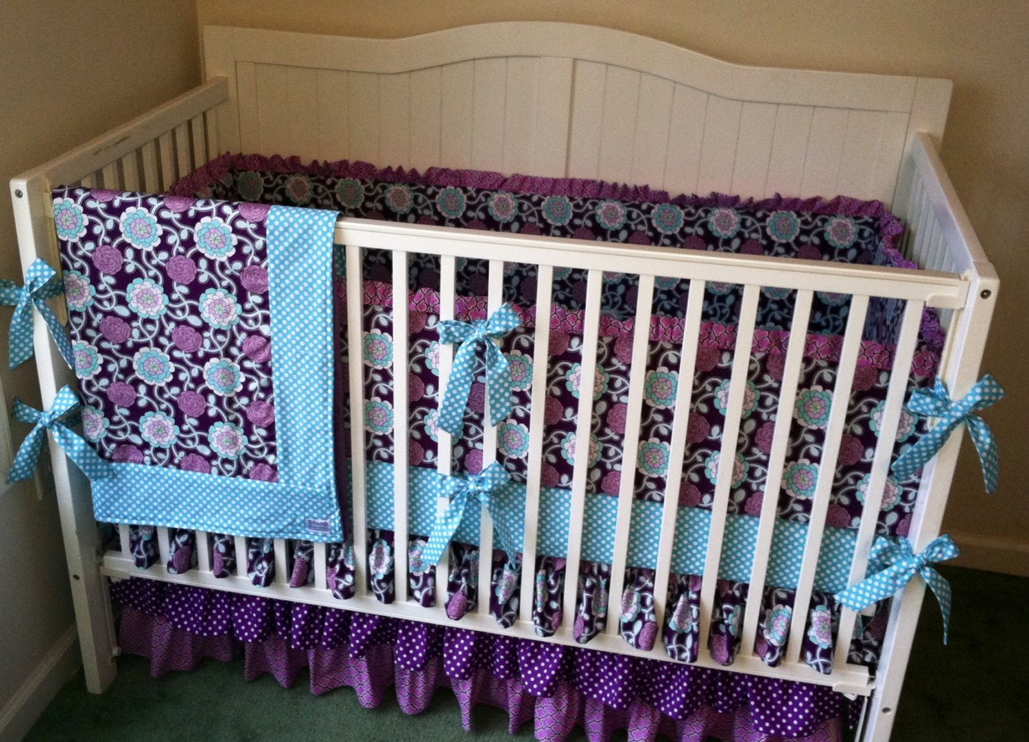 Picture of: Purple Nursery Bedding Plan