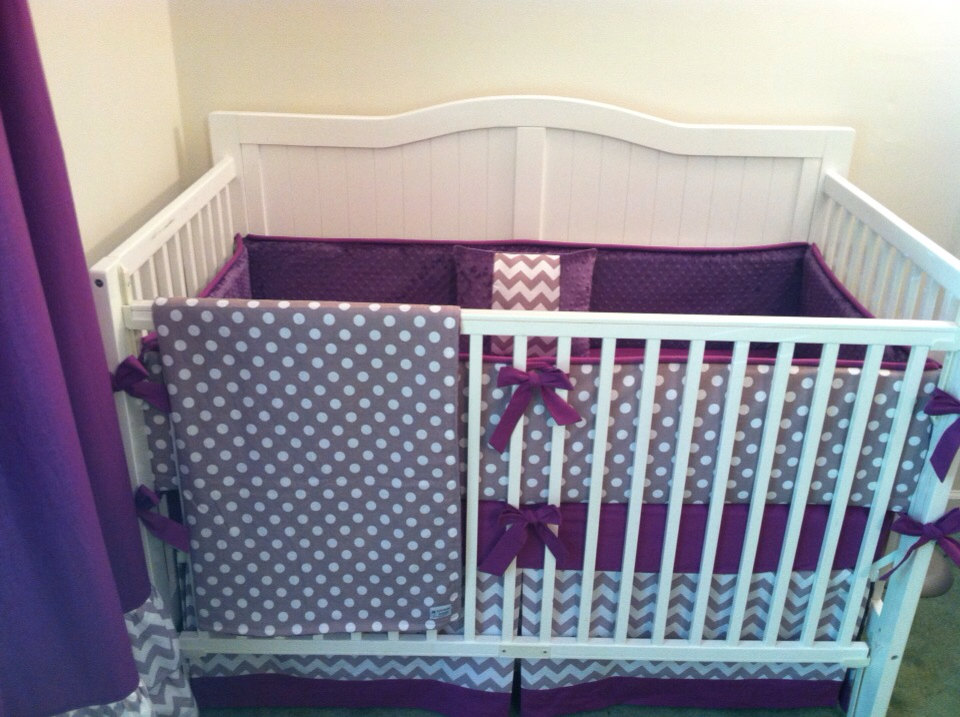 Picture of: Purple Nursery Bedding