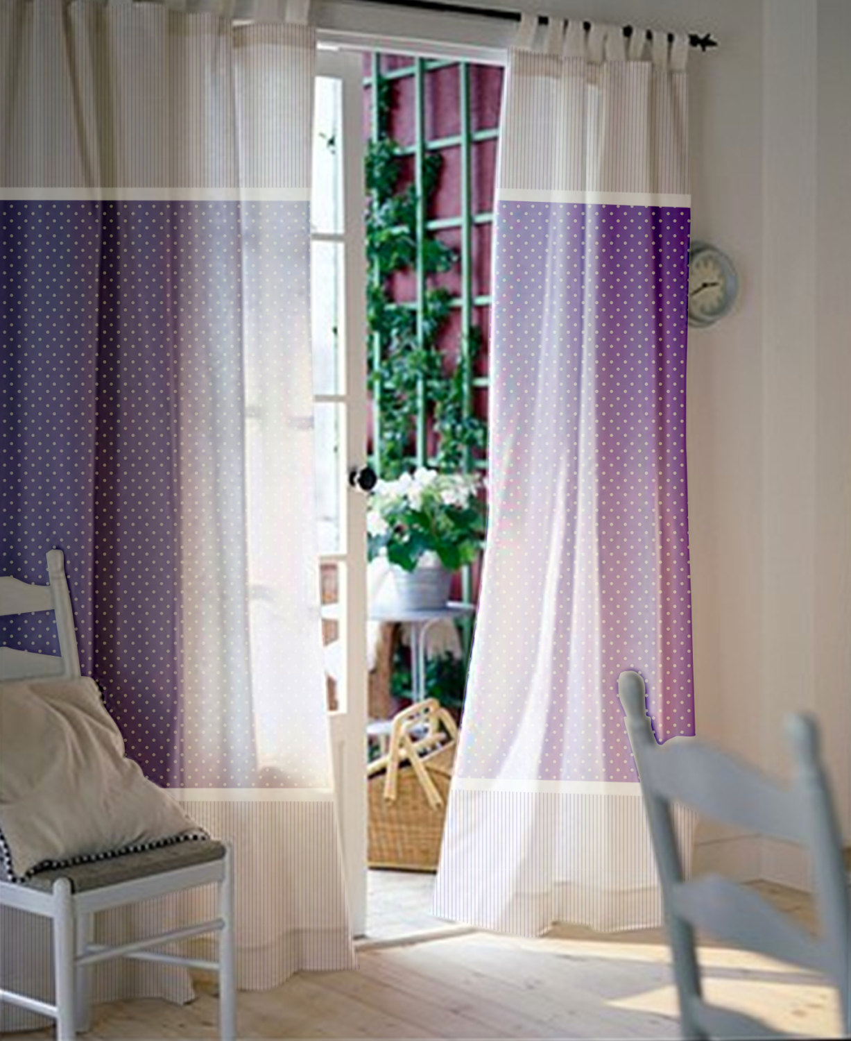 Purple nursery curtains