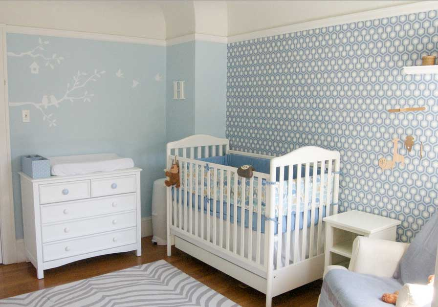 Image of: Simple White Dresser for Nursery