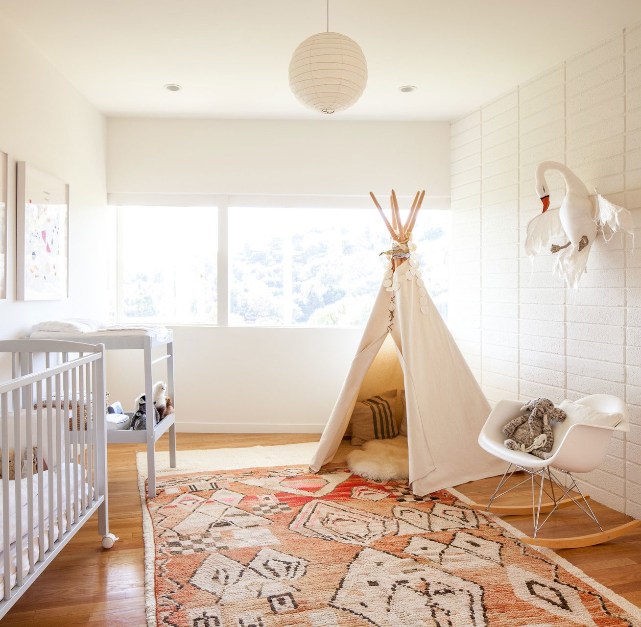Image of: Small Bohemian Nursery
