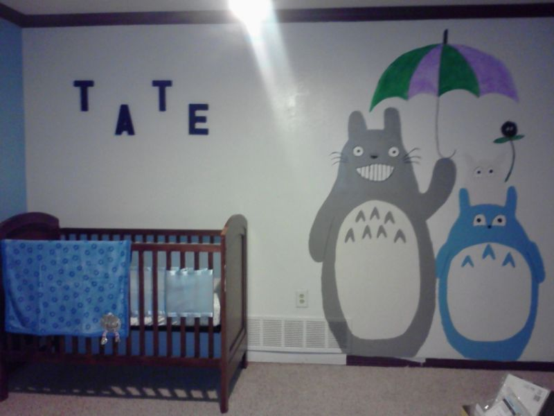 Picture of: Totoro Nursery Bedding
