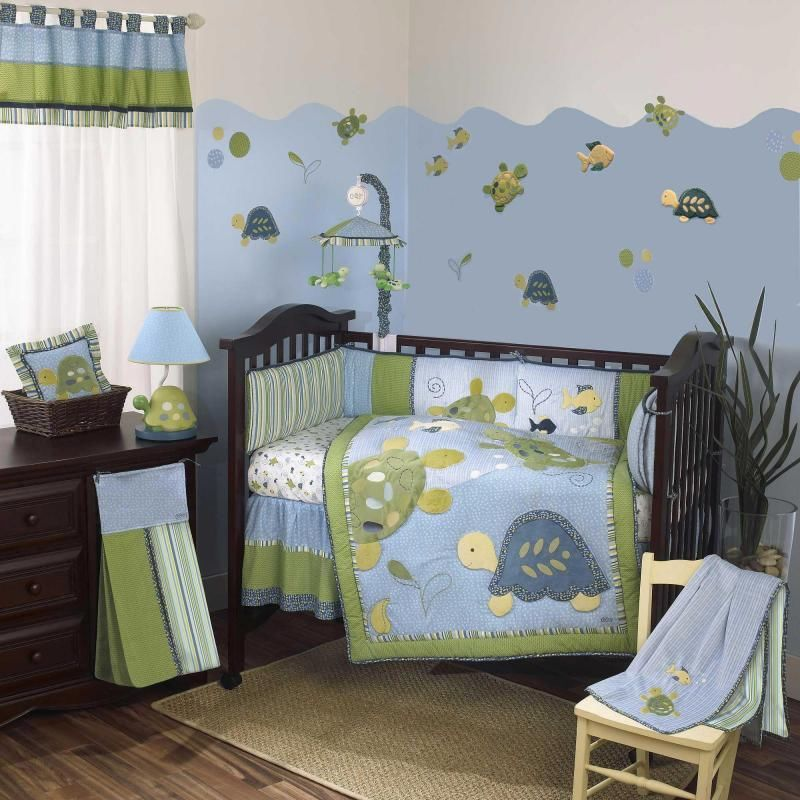 Image of: Turtle Nursery Bedding