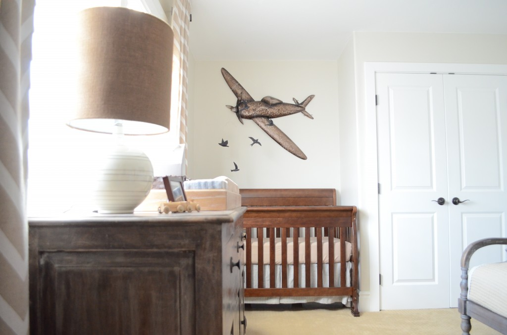 Image of: Vintage Airplane Nursery Theme