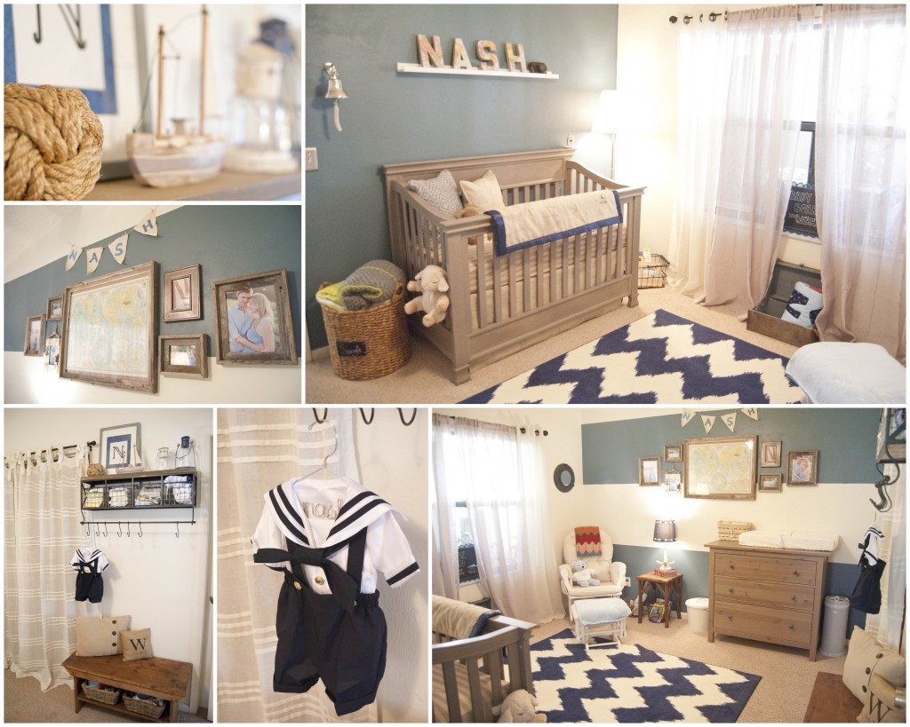 Vintage Nautical Nursery Bedding