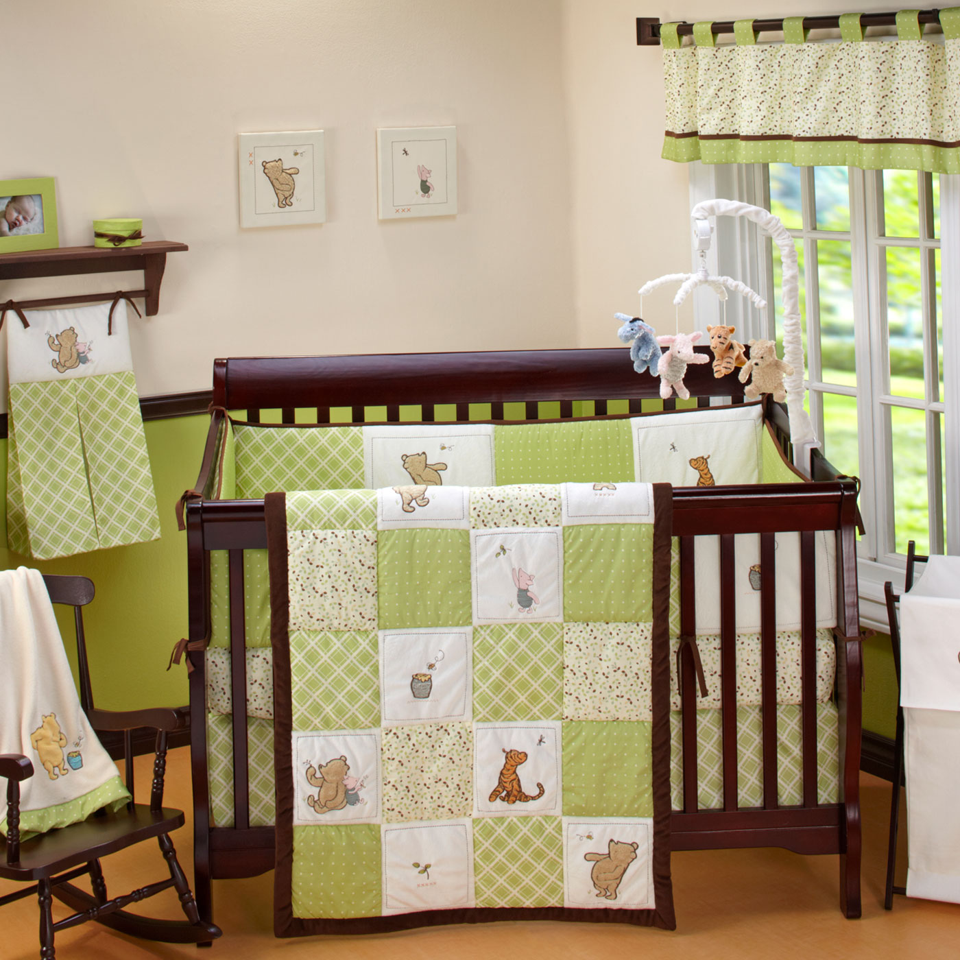 Picture of: Vintage Winnie The Pooh Nursery Bedding Set