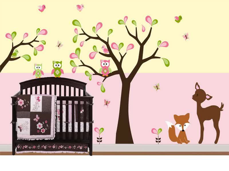 Image of: Wall Decals for Nursery Baby