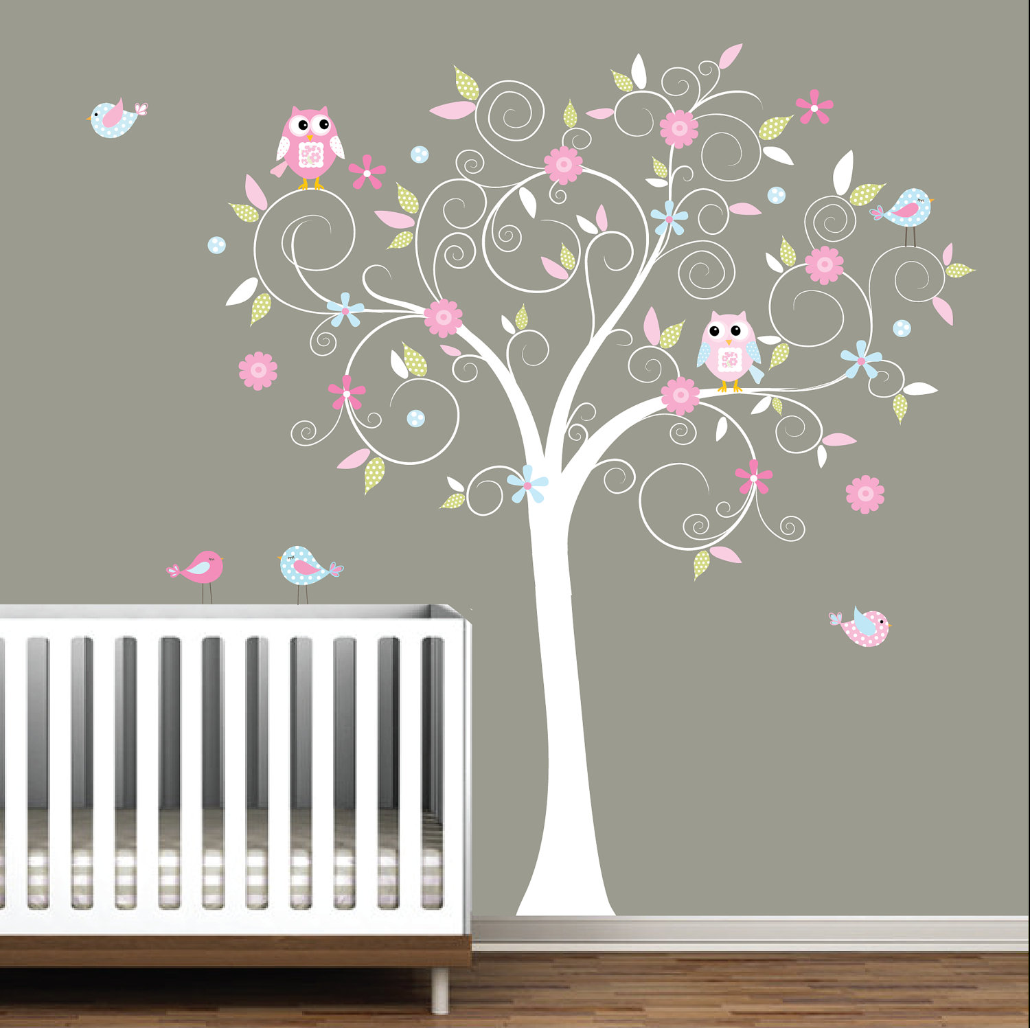 Image of: Wall Decals for Nursery Plan