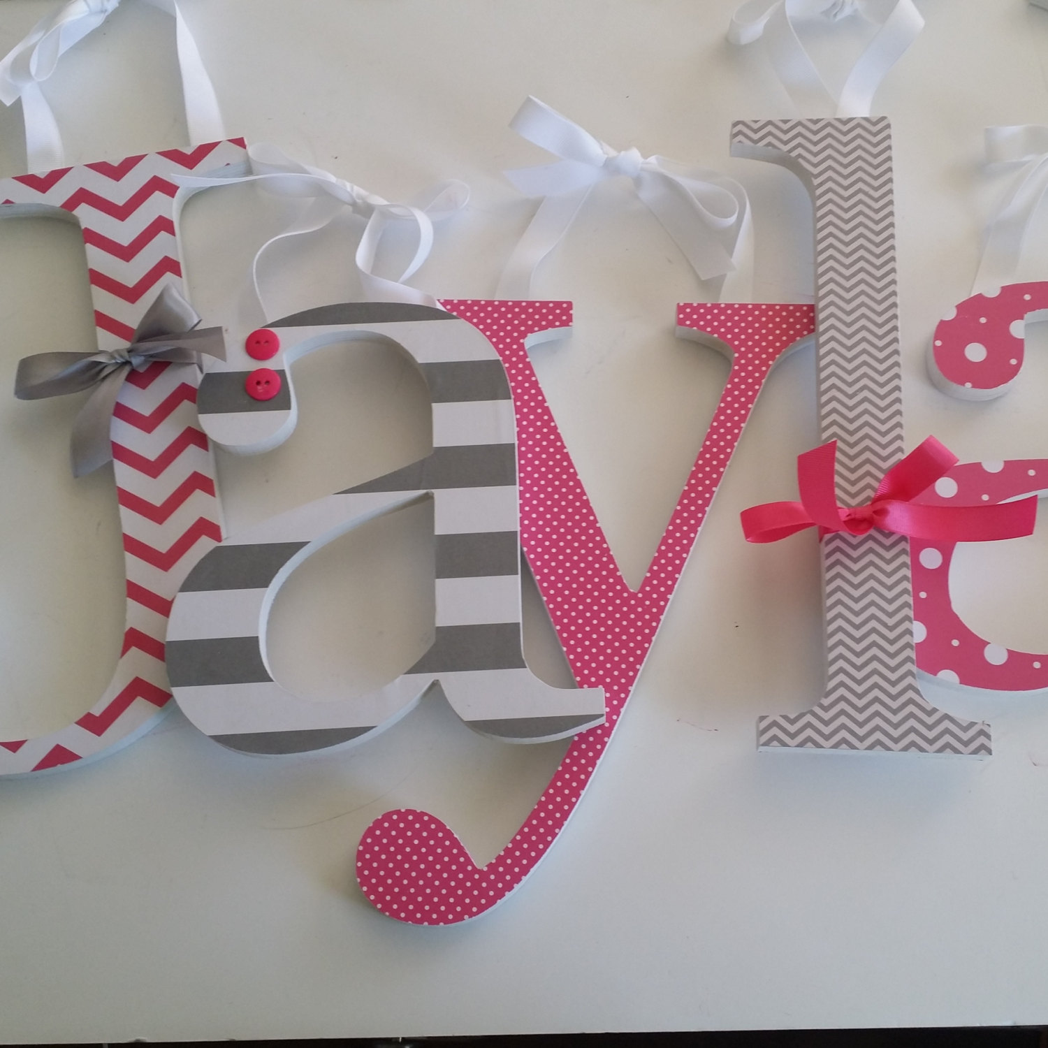 Picture of: Wall Letters for Nursery Diy