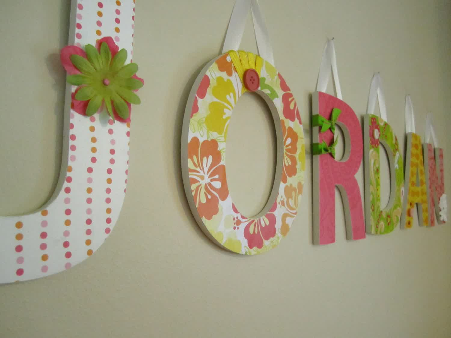 Picture of: Wall Letters for Nursery Inspirations