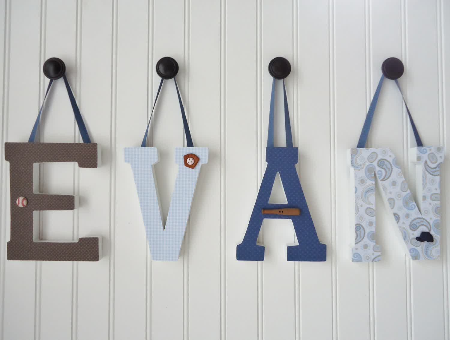 Picture of: Wall Letters for Nursery Name