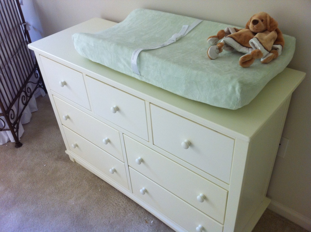 Picture of: White Dresser for Nursery Plan