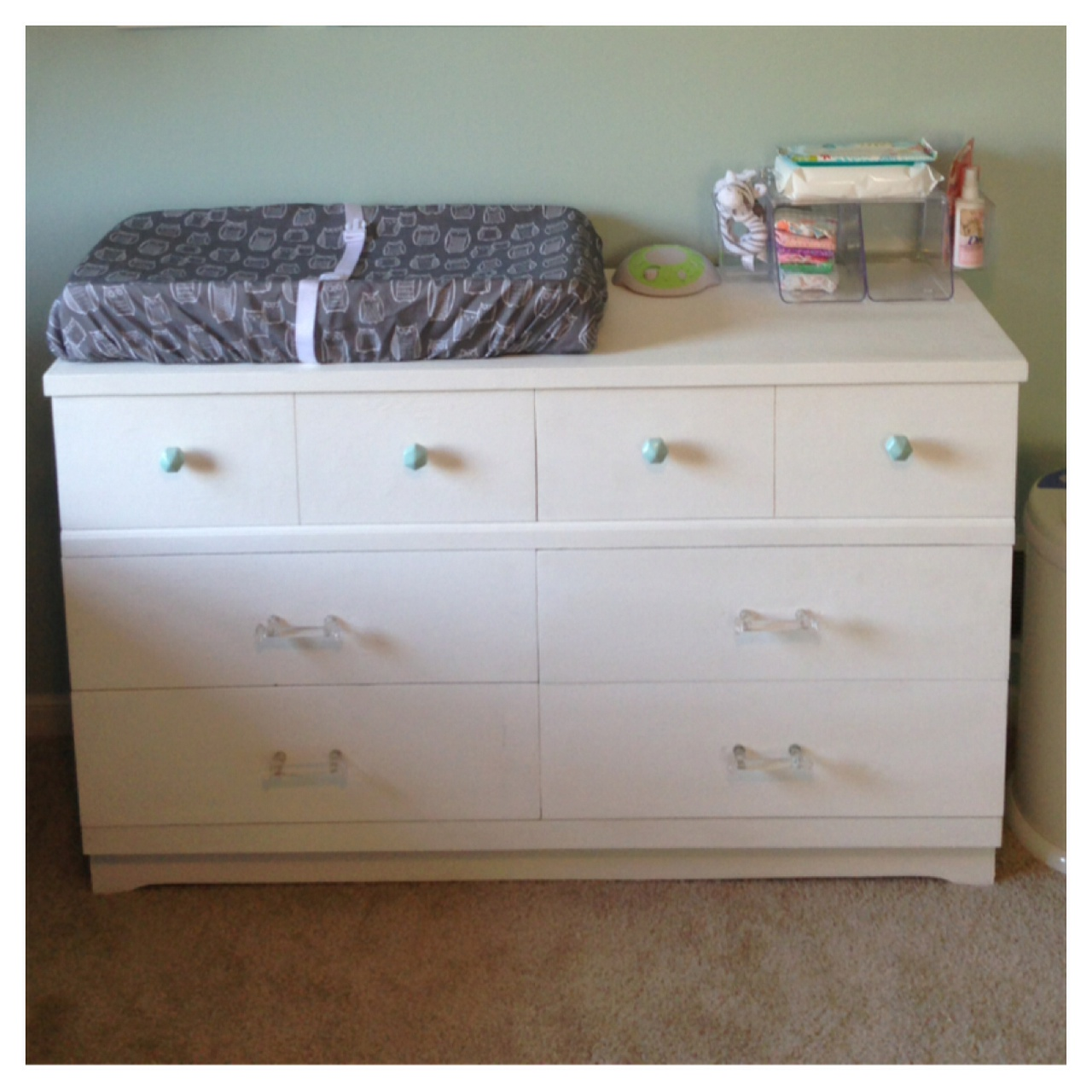 Picture of: Big White Dresser for Nursery
