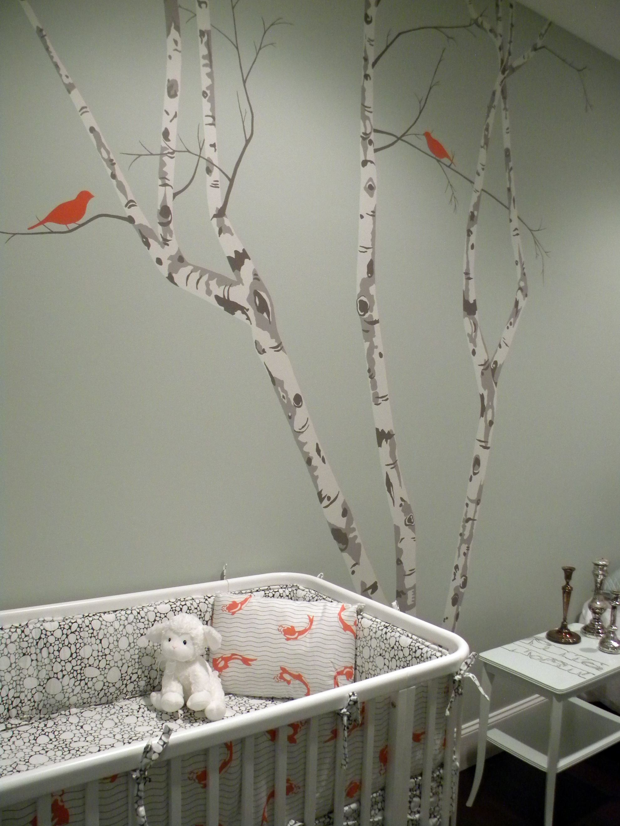 Picture of: White Tree Nursery Decals baby