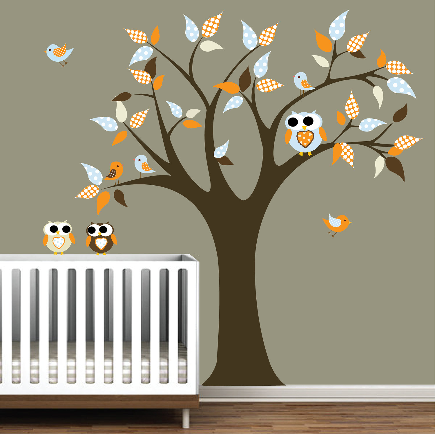 Picture of: White Tree Nursery Decals dear