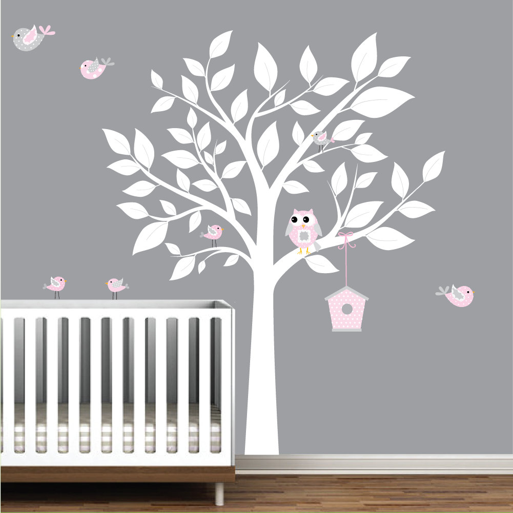 Picture of: White Tree Nursery Decals floor