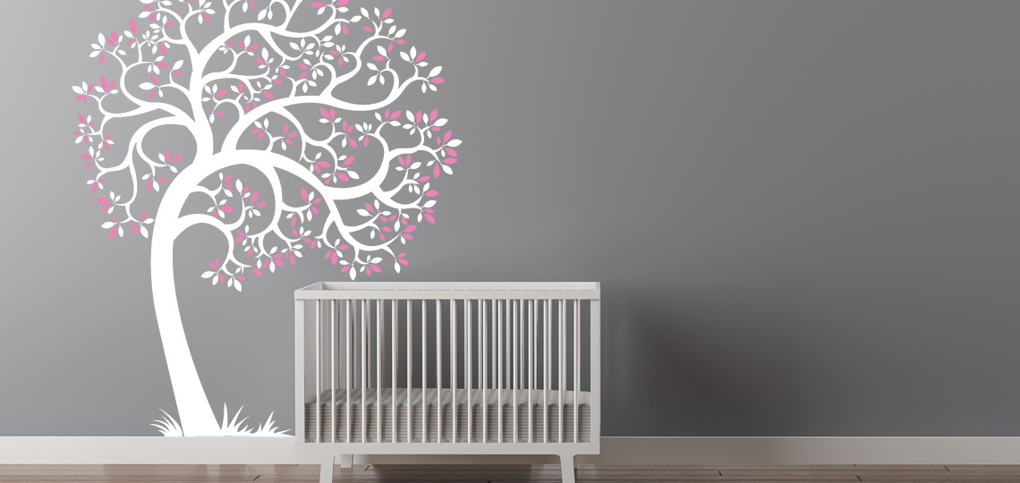 Picture of: White Tree Nursery Decals pink