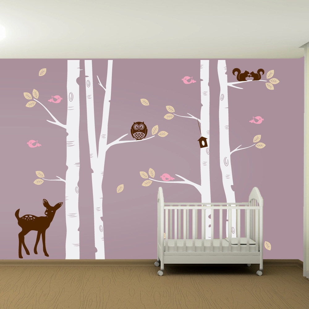 Picture of: White Tree Nursery Decals purple