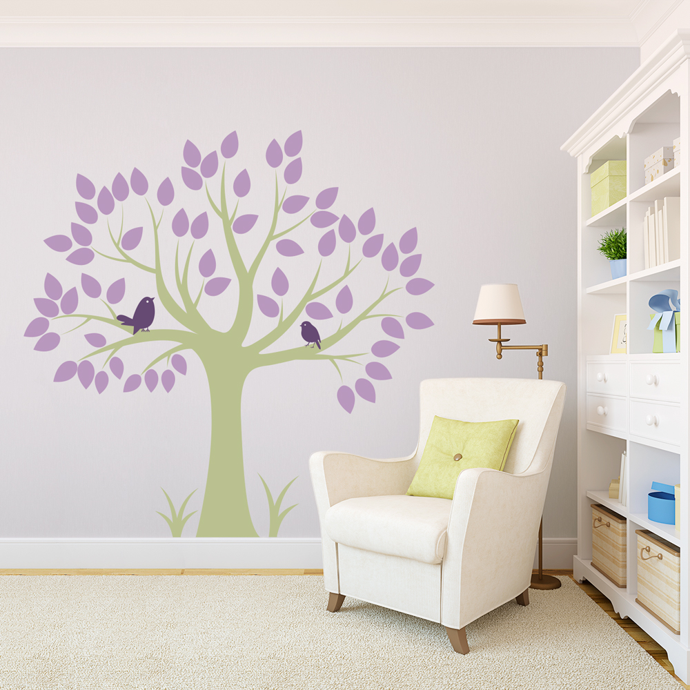 White Tree Nursery Decals Sofa