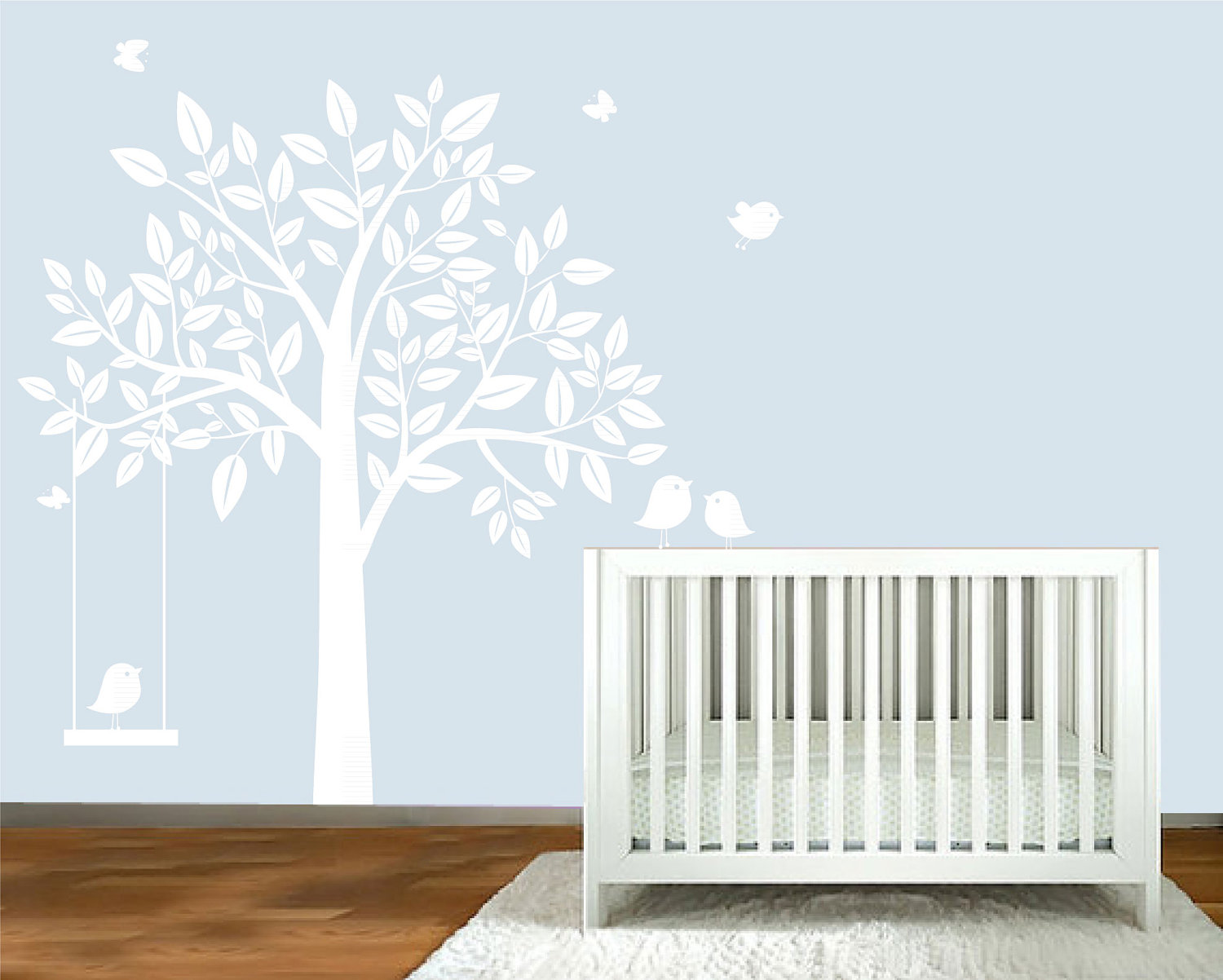 Picture of: White Tree Nursery Decals tall