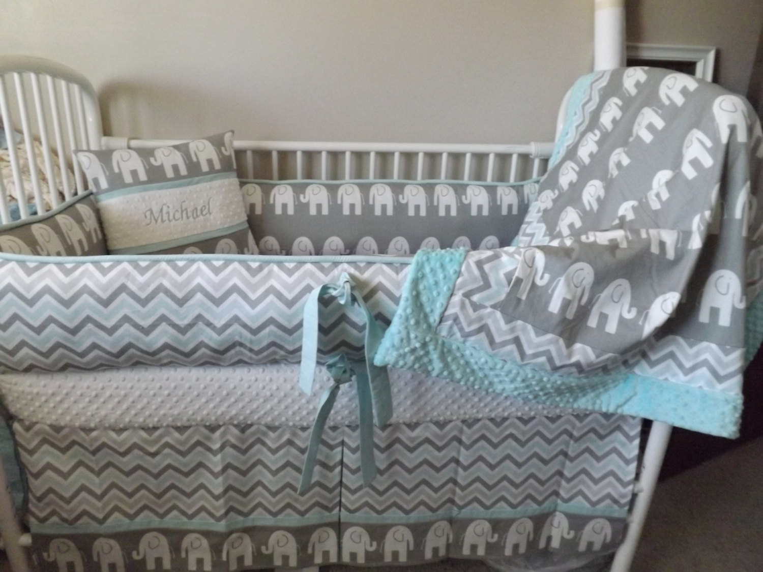 Picture of: Wonderful Elephant Nursery Bedding