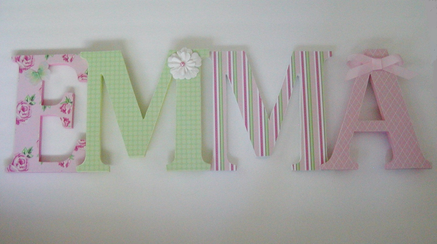 Image of: Wooden Letters for Nursery Ideas