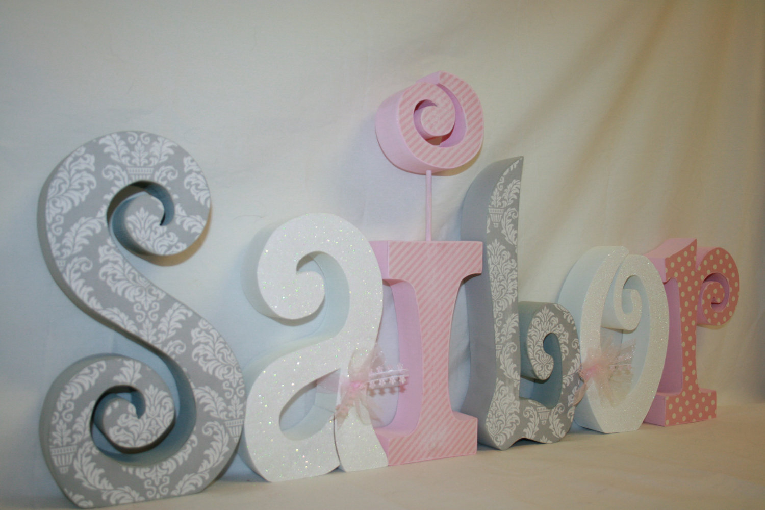 Image of: Wooden Letters for Nursery Inspirations