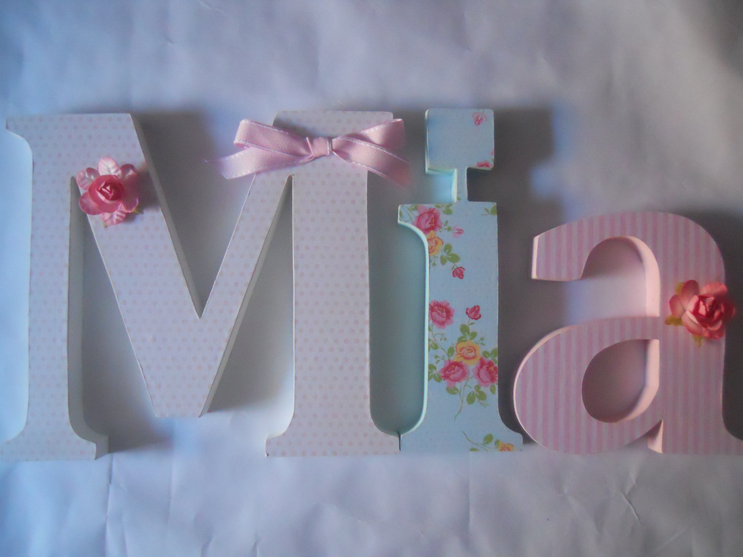 Image of: Wooden Letters for Nursery Name