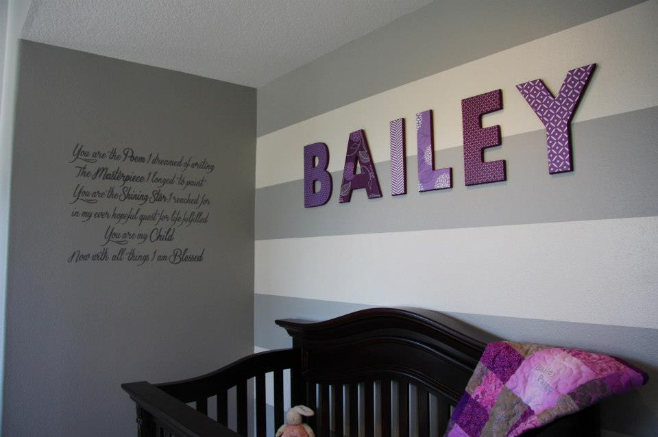 Image of: Wooden Letters for Nursery Plan