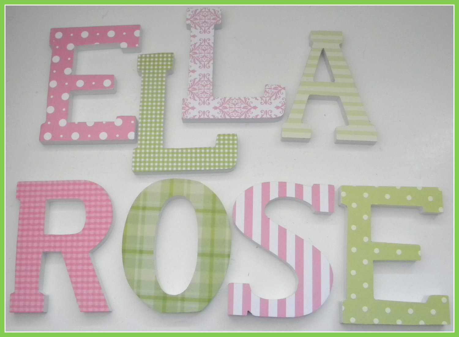 Picture of: Wooden Letters for Nursery