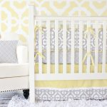 Yellow and Gray Nursery Bedding clam