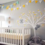 Yellow and Gray Nursery Bedding flag