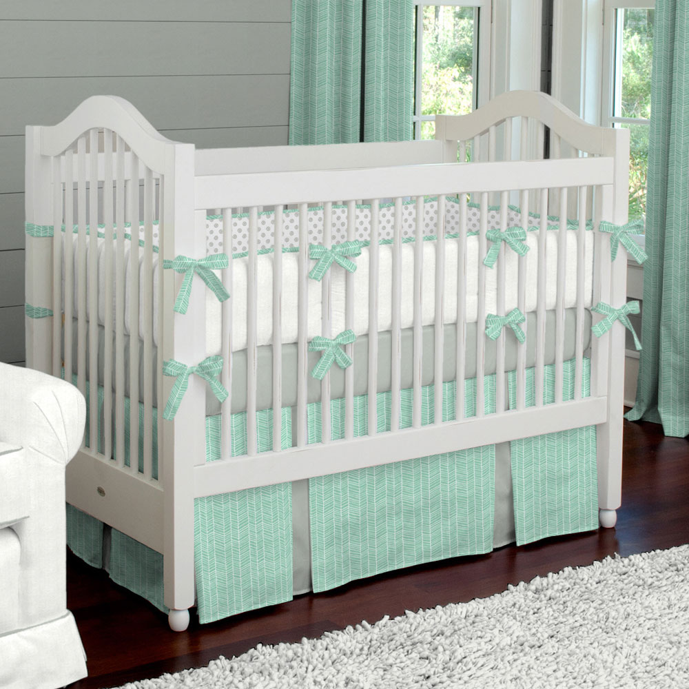 Picture of: Yellow and Gray Nursery Bedding green