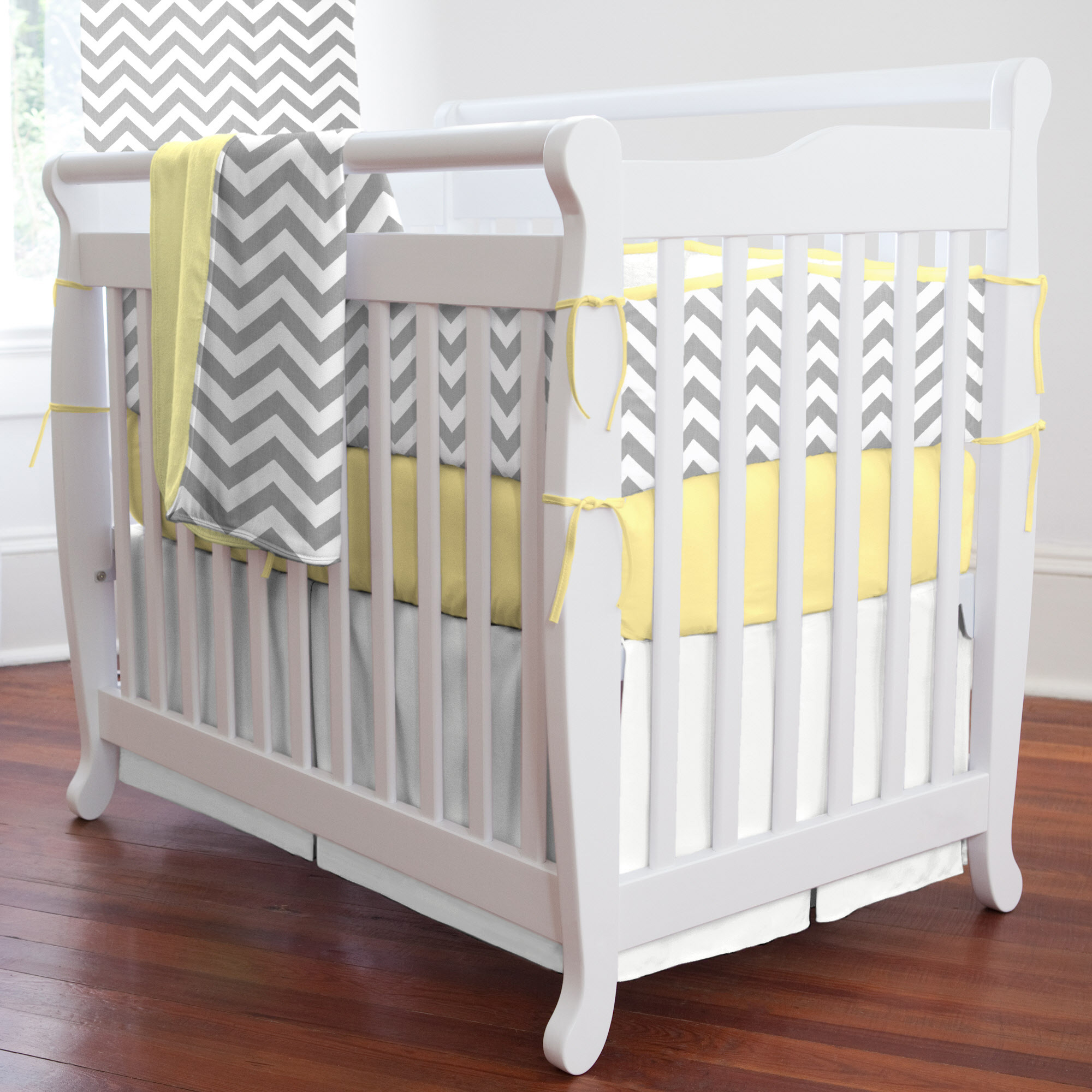 Picture of: Yellow and Gray Nursery Bedding queen