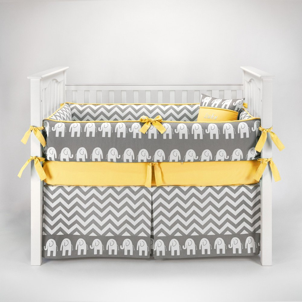 Picture of: Yellow and Gray Nursery Bedding sexy
