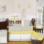 Yellow and Gray Nursery Bedding young
