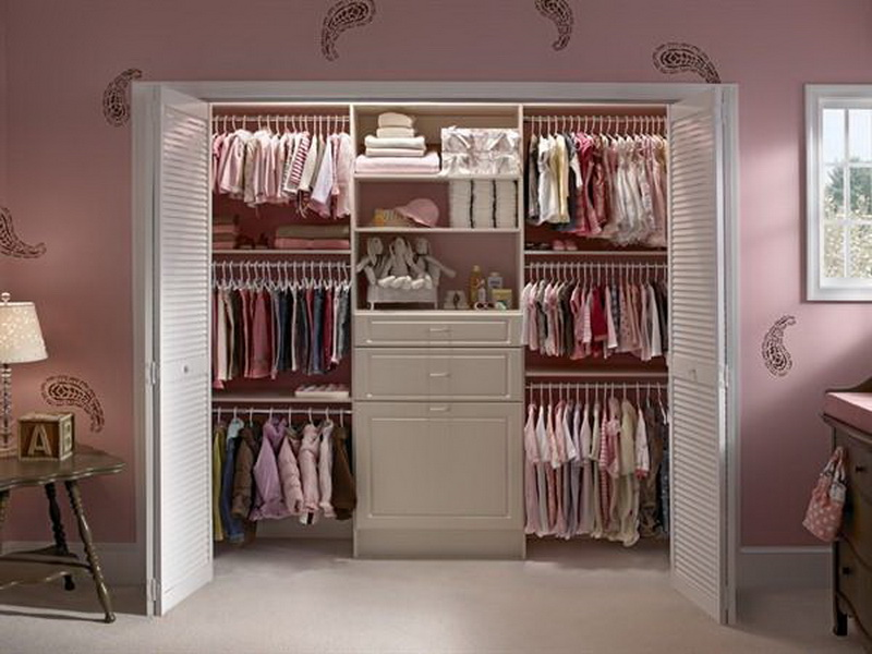 Image of: how to nursery closet organizer