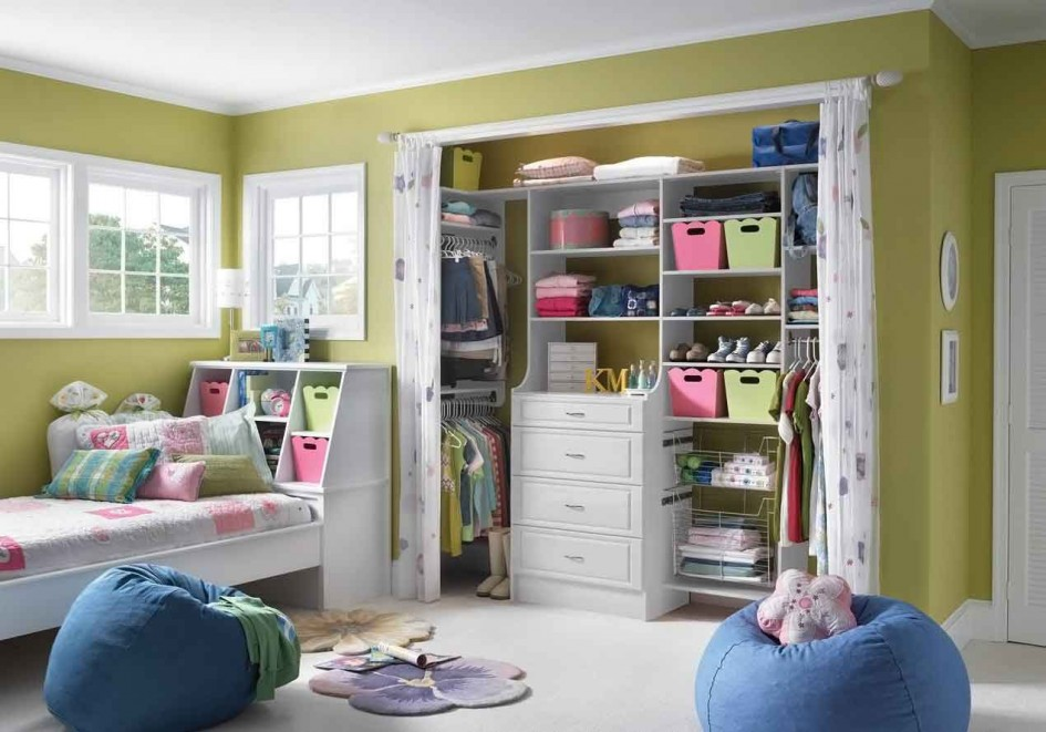 Image of: ideal nursery closet organizer