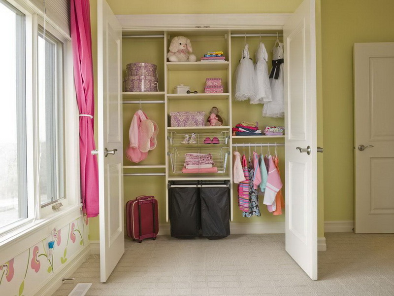 Image of: nursery closet organizer with doors
