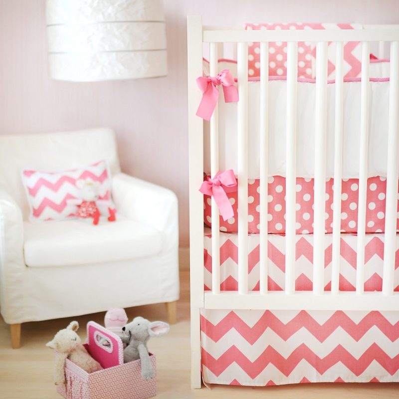 Picture of: orange chevron nursery