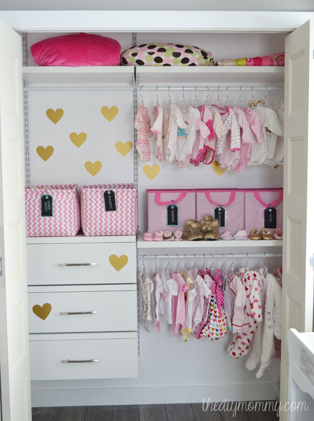 Image of: perfect nursery closet organizer