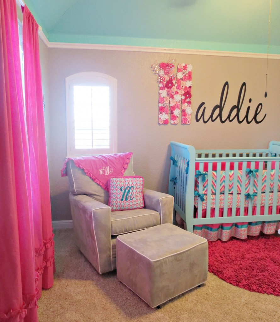 Picture of: pink chevron nursery