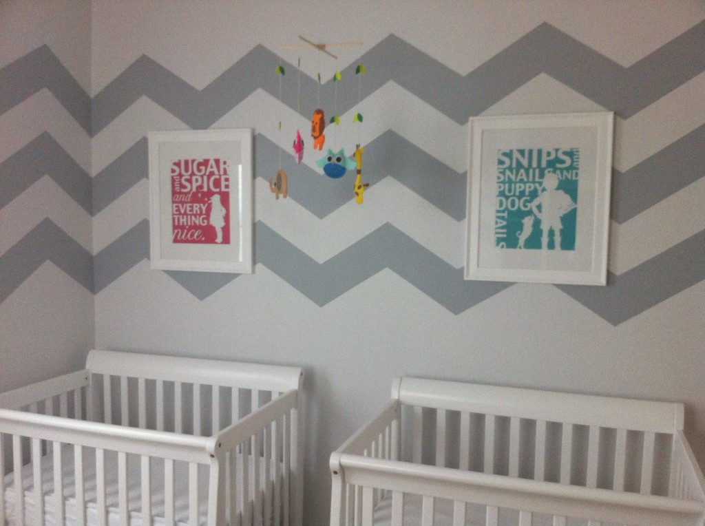 Picture of: wall chevron nursery