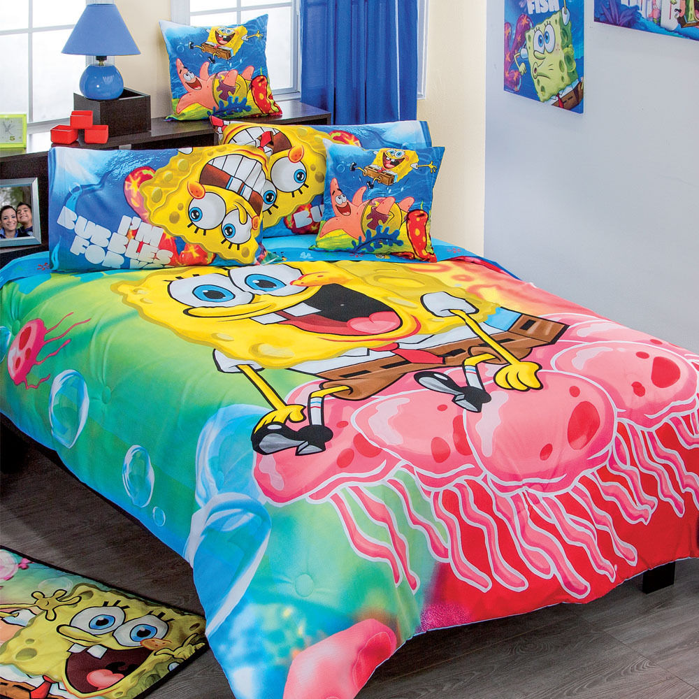 Picture of: Amazing Spongebob Toddler Bed Set