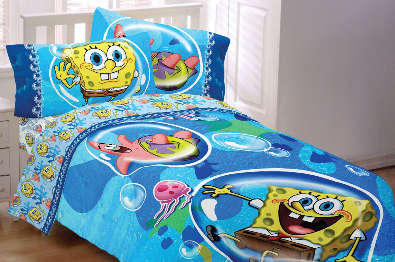 Picture of: Awasome Spongebob Toddler Bed Set