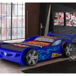 Blue Race Car Toddler Bed