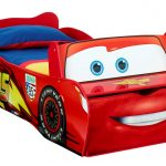 Cartoon Race Car Toddler Bed