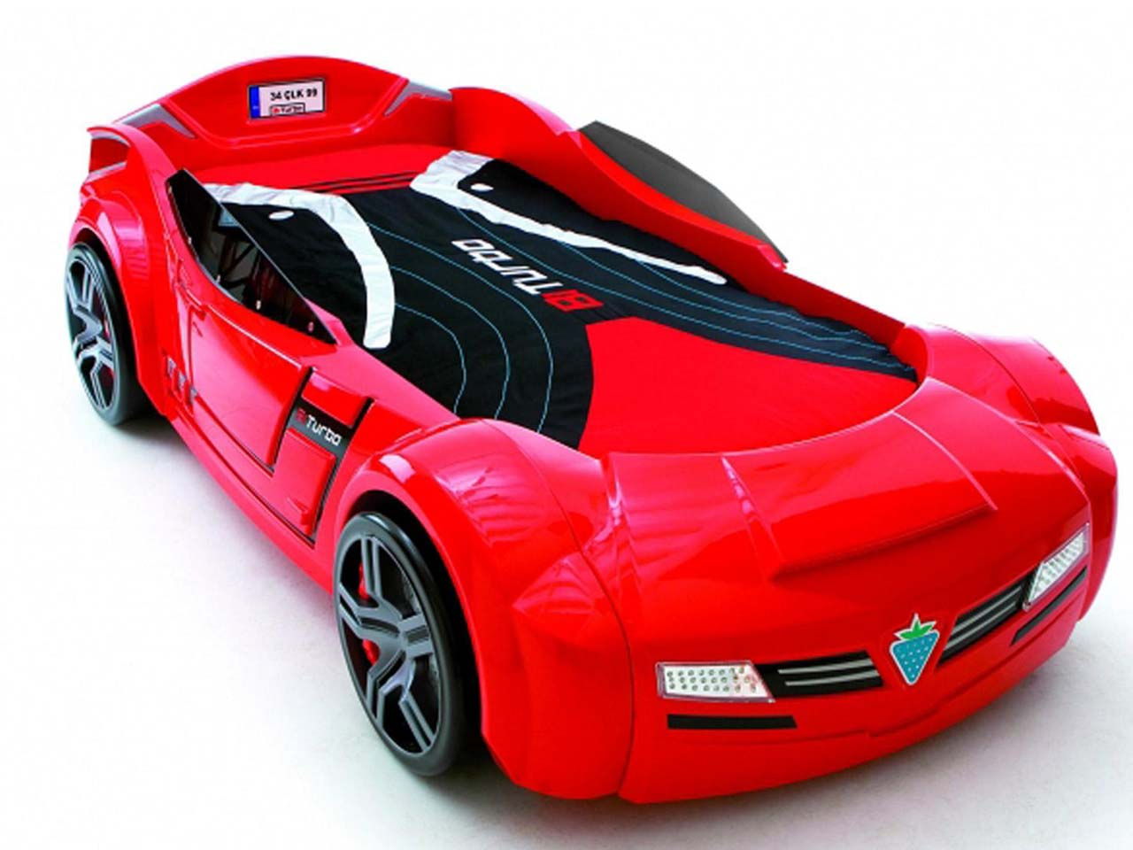 Picture of: Sports Race Car Toddler Bed